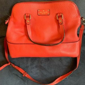 Coral Kate Spade dome satchel